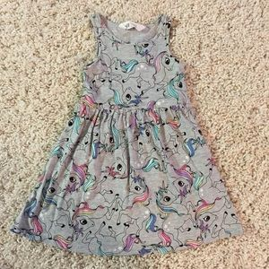 H&M Girls Unicorn Dress